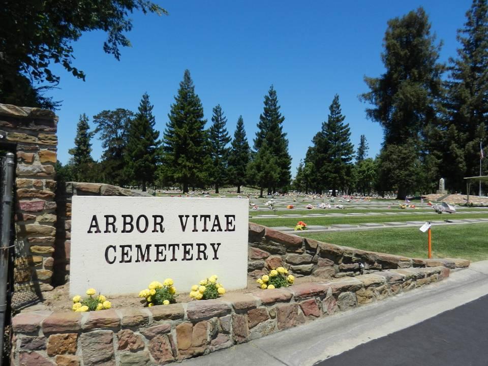 Arbor Vitae Cemetery Sign